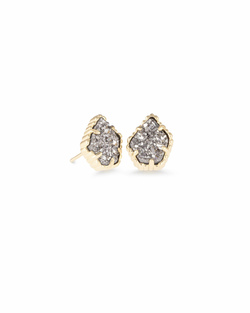 Kendra Scott ~ Tessa Stud Earrings (Gold/Platinum Drusy)