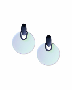 Kendra Scott ~ Didi Statement Earring (Navy Gunmetal/Indigo Dichronic Glass)