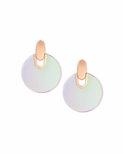 Kendra Scott ~ Didi Statement Earring (Rose Gold/Blush Dichroic Glass)
