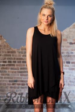 Summer Treats Black Dress
