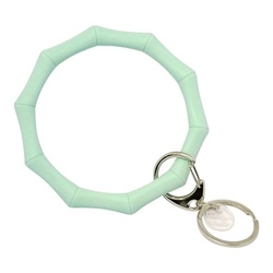 Bracelet Bamboo Key Ring ~ Mint