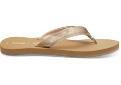 TOMS Champagne Shimmer Gabi Flip-Flop Sandals
