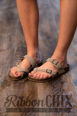 Brycee Sandal in Taupe
