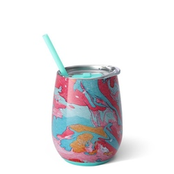 SWIG Cotton Candy 14oz Stemless Cup and Straw