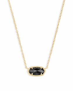 Kendra Scott ~ Elisa Gold Pendant Necklace In Black