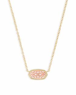 Kendra Scott ~ Elisa Gold Pendant Necklace In Rose Gold Filigree