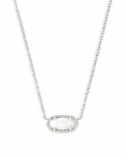Kendra Scott ~ Elisa Silver Pendant Necklace In White Pearl