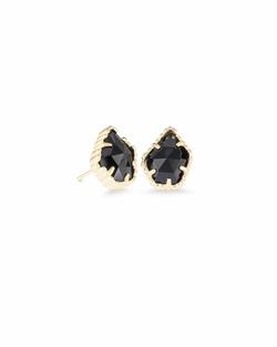 Kendra Scott ~ Tessa Gold Stud Earrings In Black