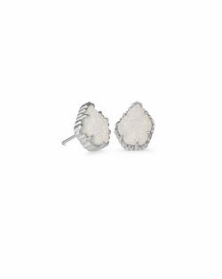 Kendra Scott ~ Tessa Silver Stud Earrings In Iridescent Drusy