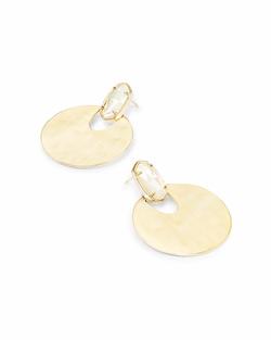 Kendra Scott ~ Deena Gold Hoop Earrings In Mother of Pearl