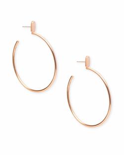 Kendra Scott ~ Pepper Hoop Earrings In Rose Gold