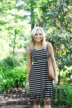 Dreaming of the Sun Dress (Black/Ivory)