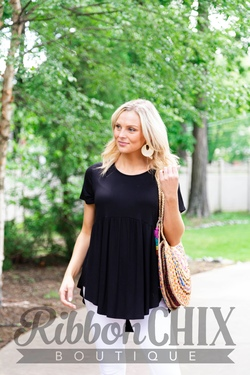 It's All Casual Black Top