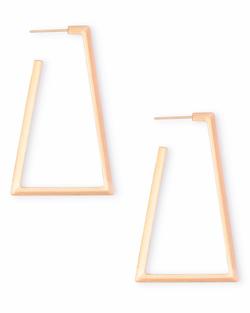 Kendra Scott ~ Easton Hoop Earrings In Rose Gold