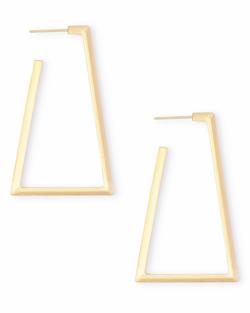 Kendra Scott ~ Easton Hoop Earrings In Gold