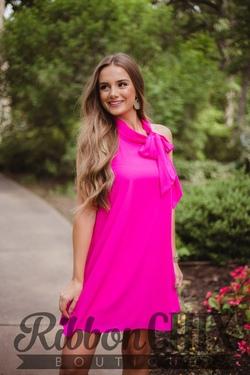 Gotta Keep Up Fuchsia Dress