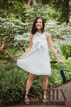 Gotta Keep Up White Dress