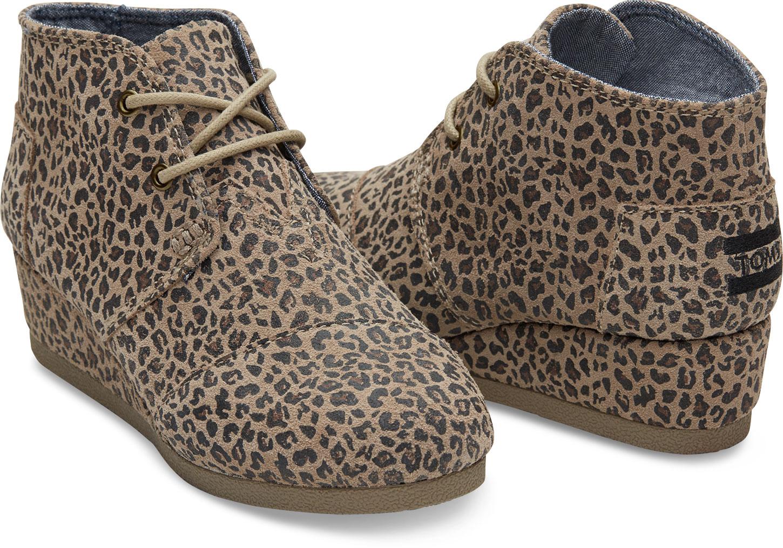 27fab30fac9 TOMS Desert Wedge ~ Cheetah Suede (Children)