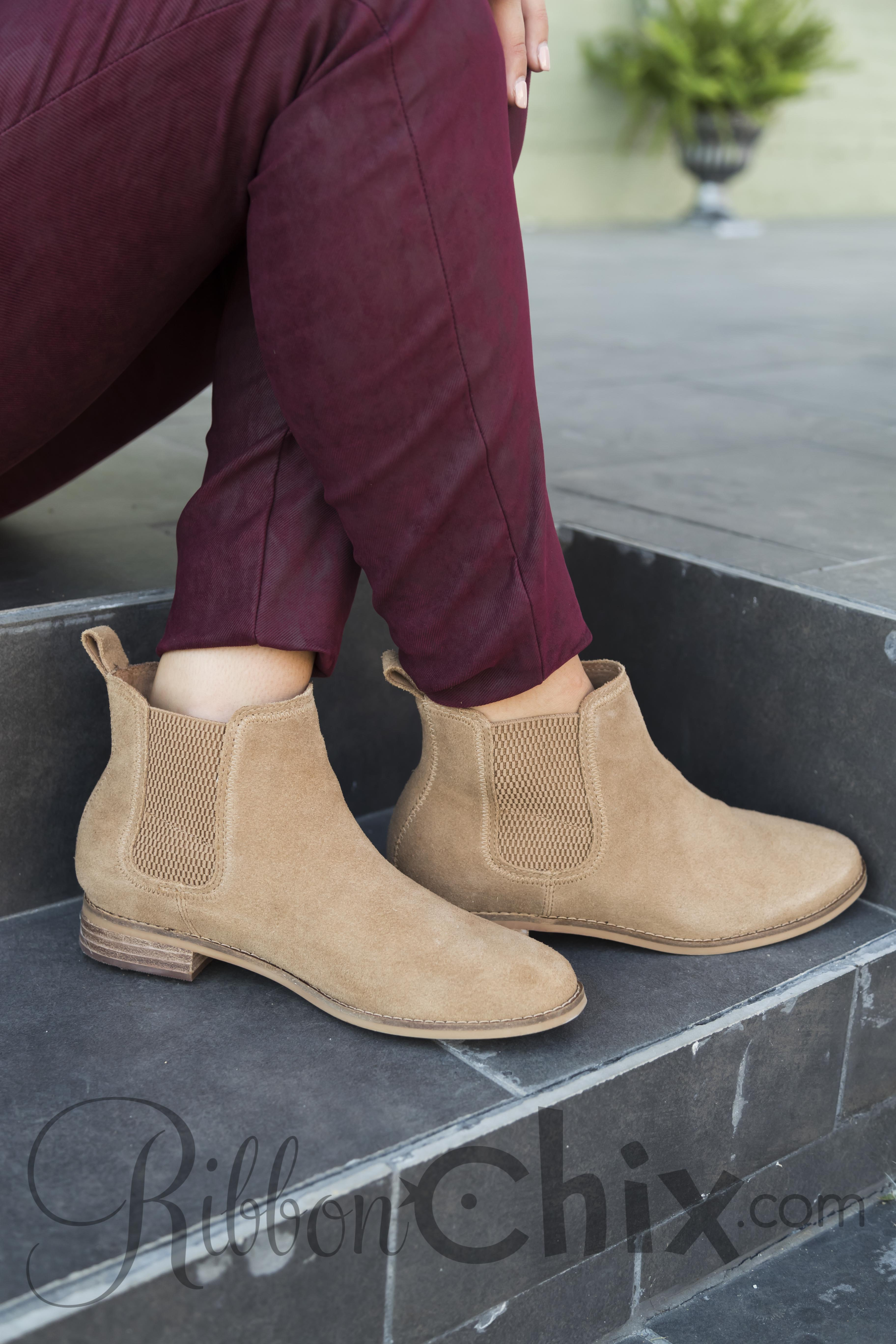 3234321ceef TOMS ~ Ella Bootie. (Click image to enlarge). This Toffee Suede ...