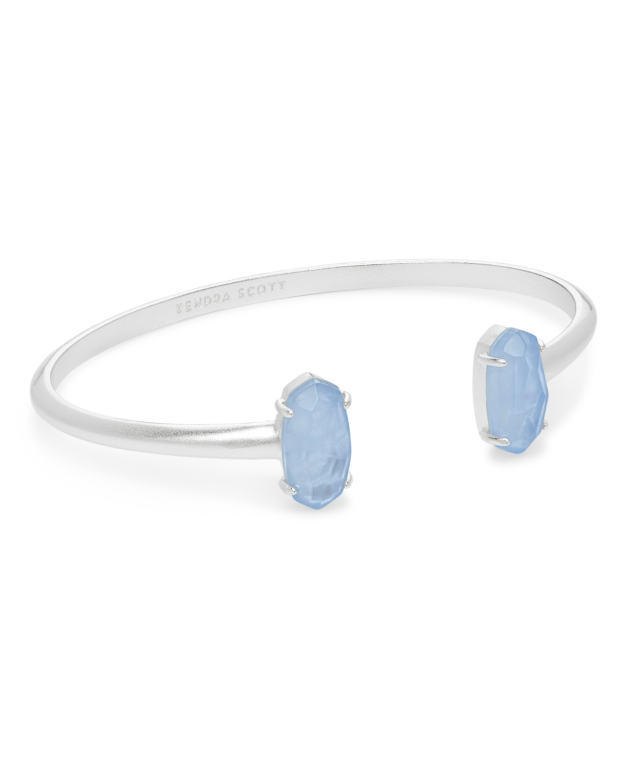 c5877fc86 Kendra Scott ~ Edie Cuff Bracelet (Sky Blue Illusion/Bright Silver ...