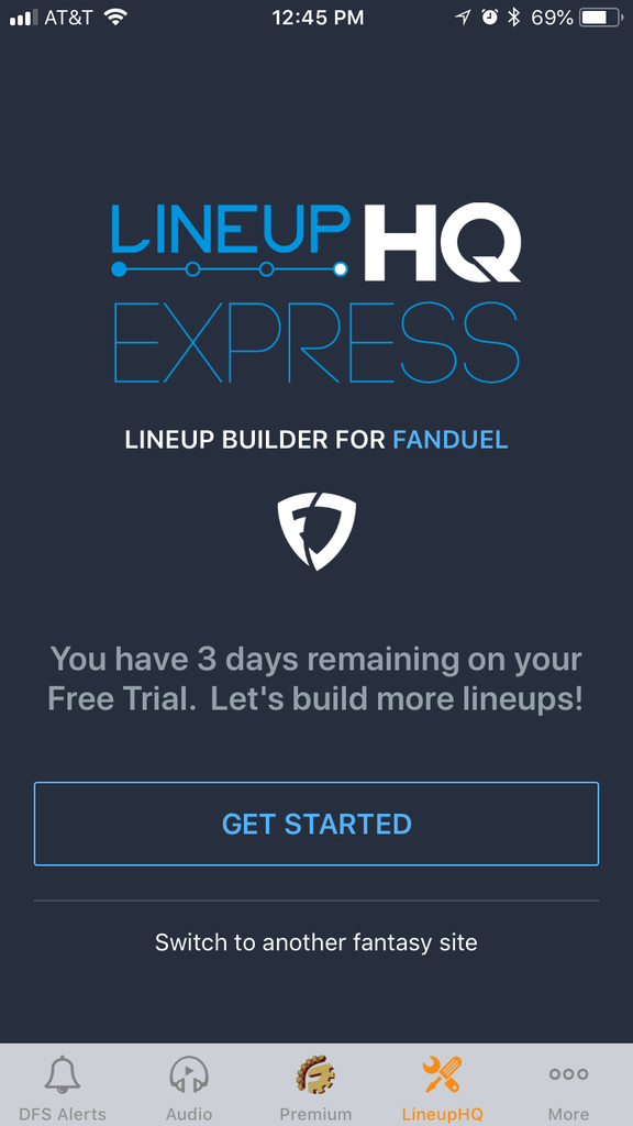 Try the new LineupHQ Express! Build lineups on your iOS
