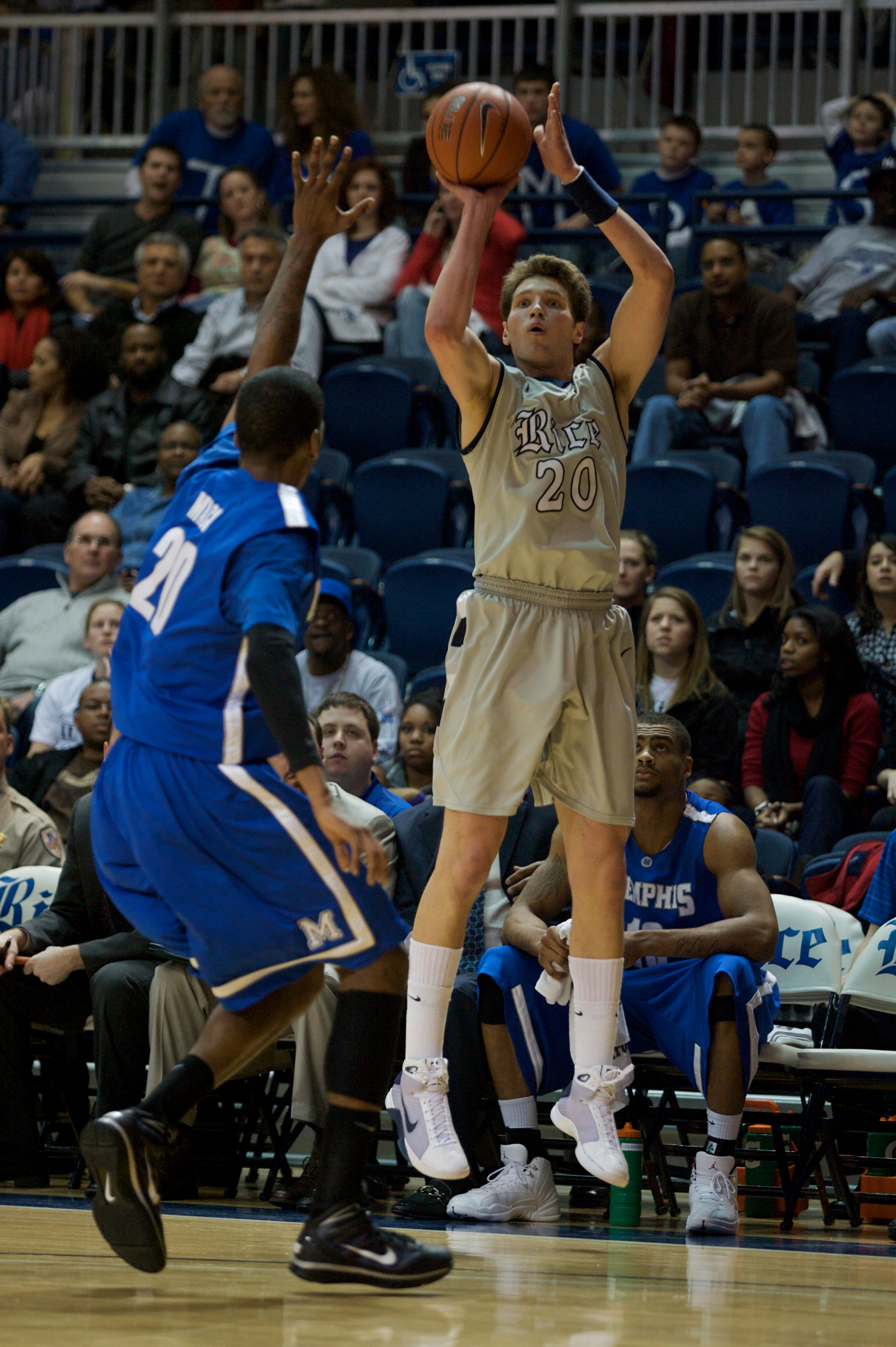 Rice sophomore forward Lucas Kuipers is coming off a season-high, 15-point effort against SMU earlier in the week.