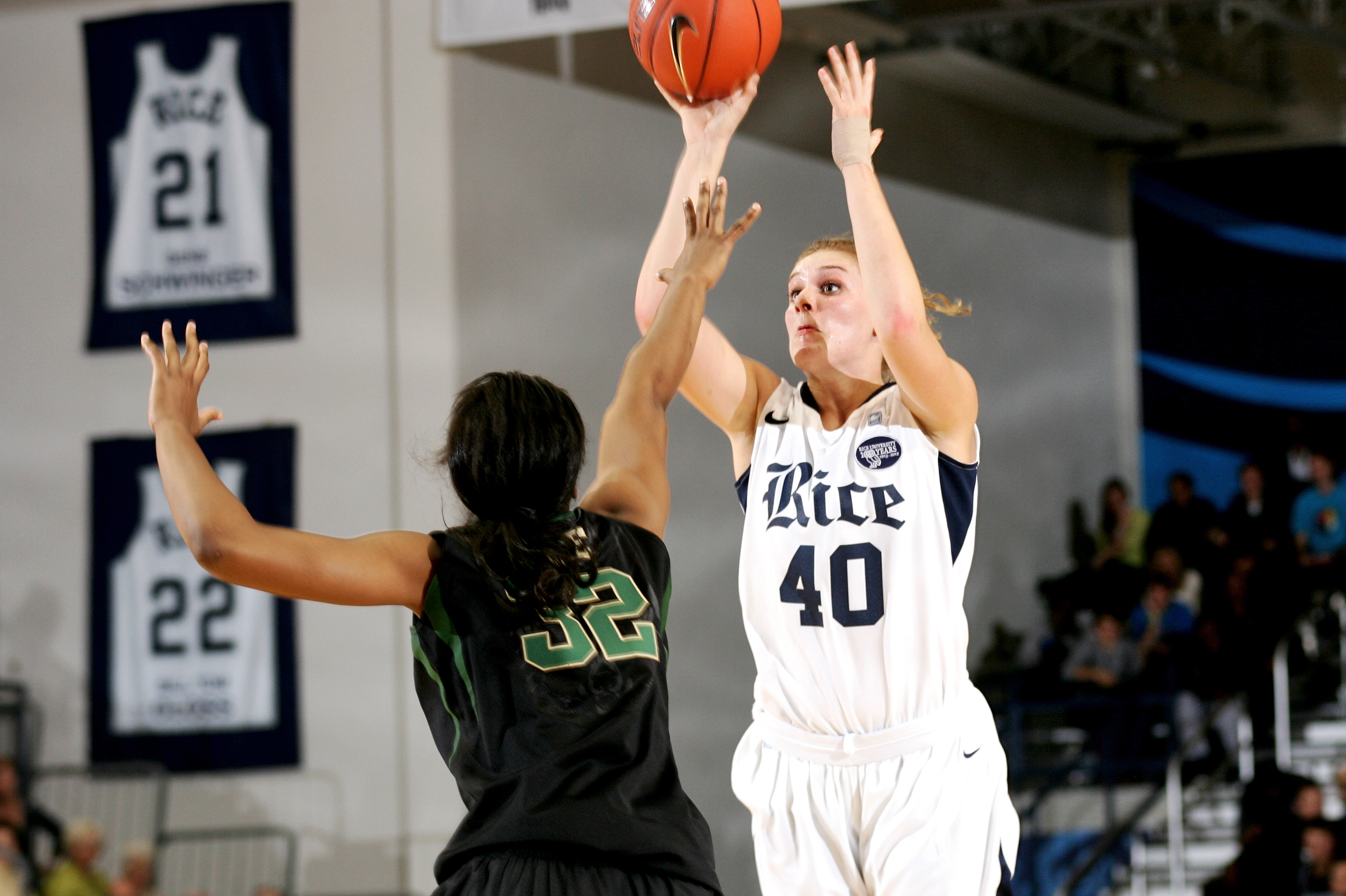 Megan Palmer ranks in the top 5 in points and rebounds for C-USA freshmen