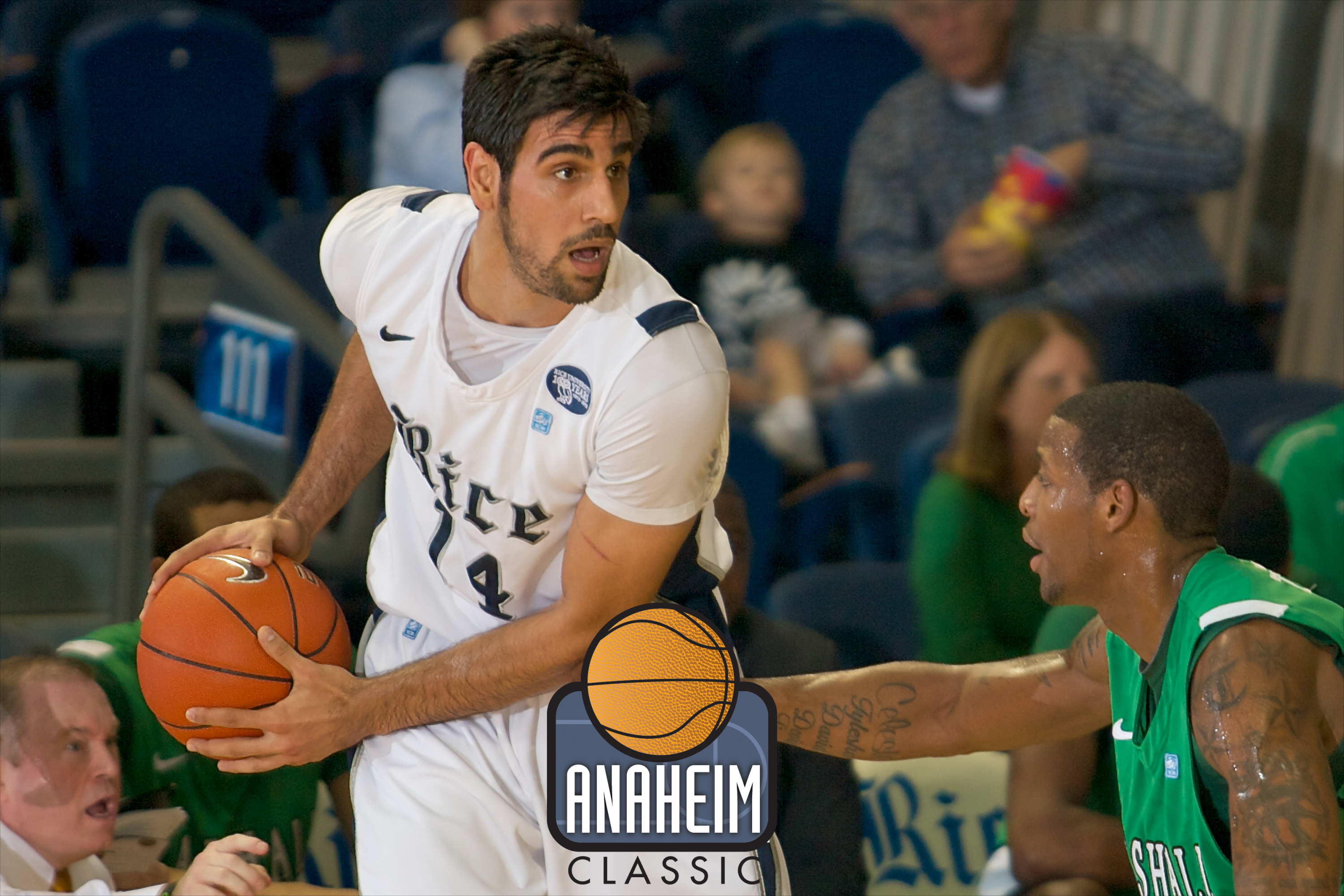 Rice will play in the 2012 Anaheim Classic over the Thanksgiving weekend.