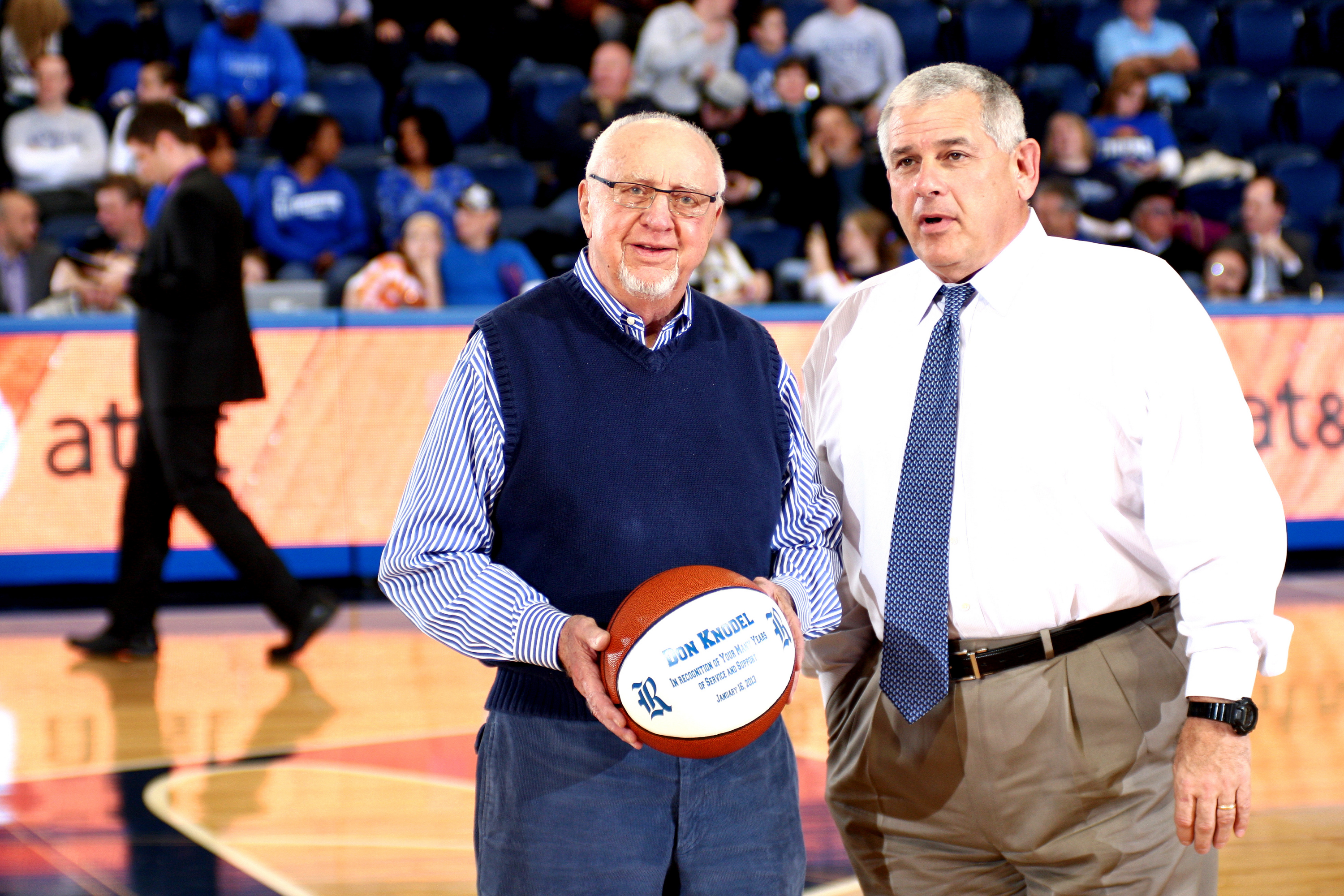 Rice Athletics honored recently retired former coach and