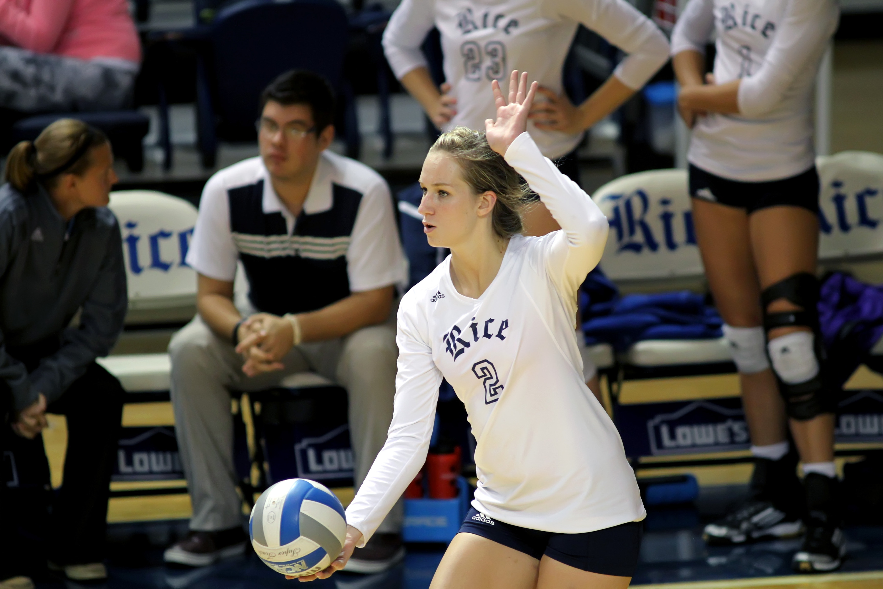 Sara Blasier posted 42 assists in her first collegiate start against LSU (Sept. 7)