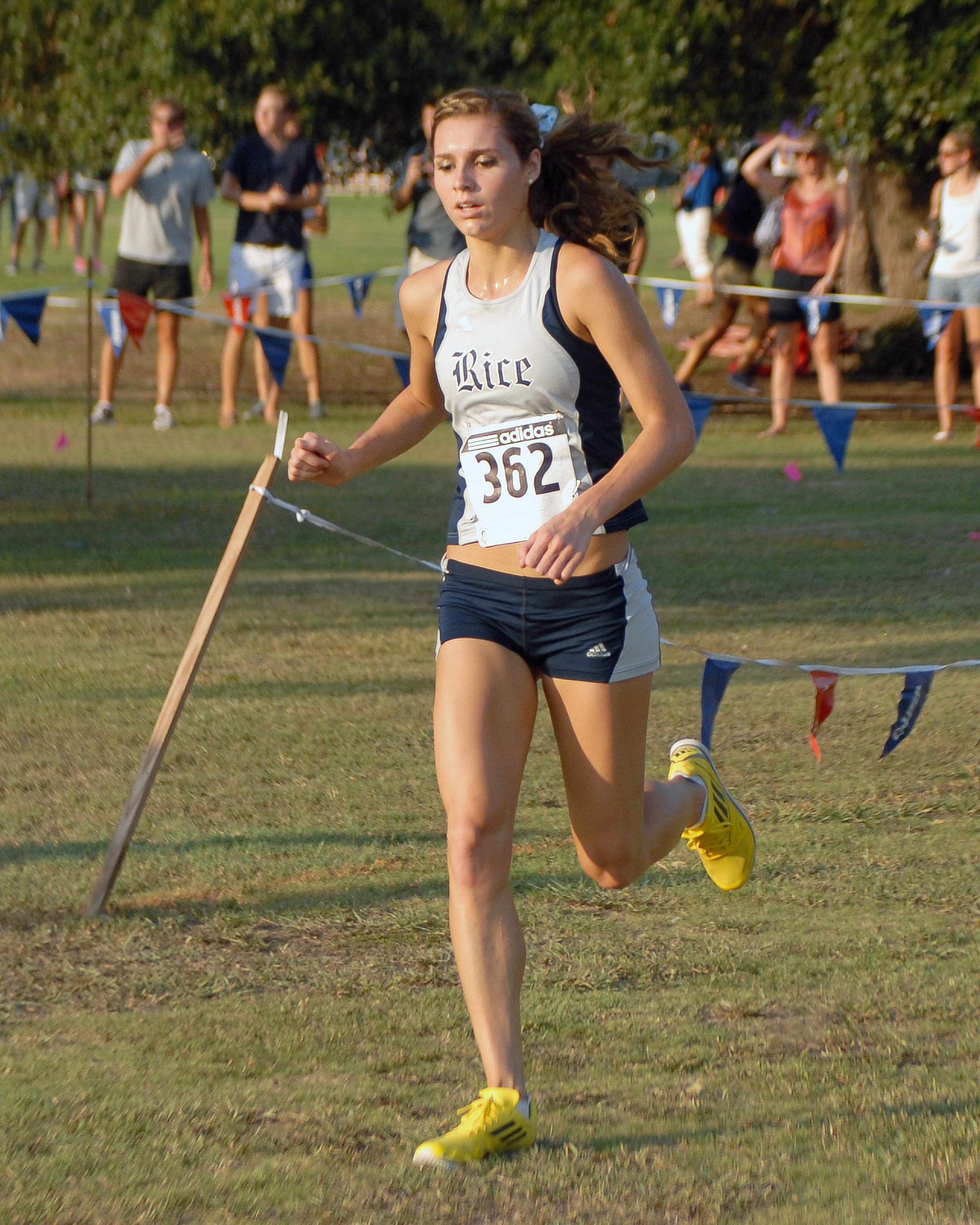 Cali Roper finished third, the first of three Rice freshmen in the top 15