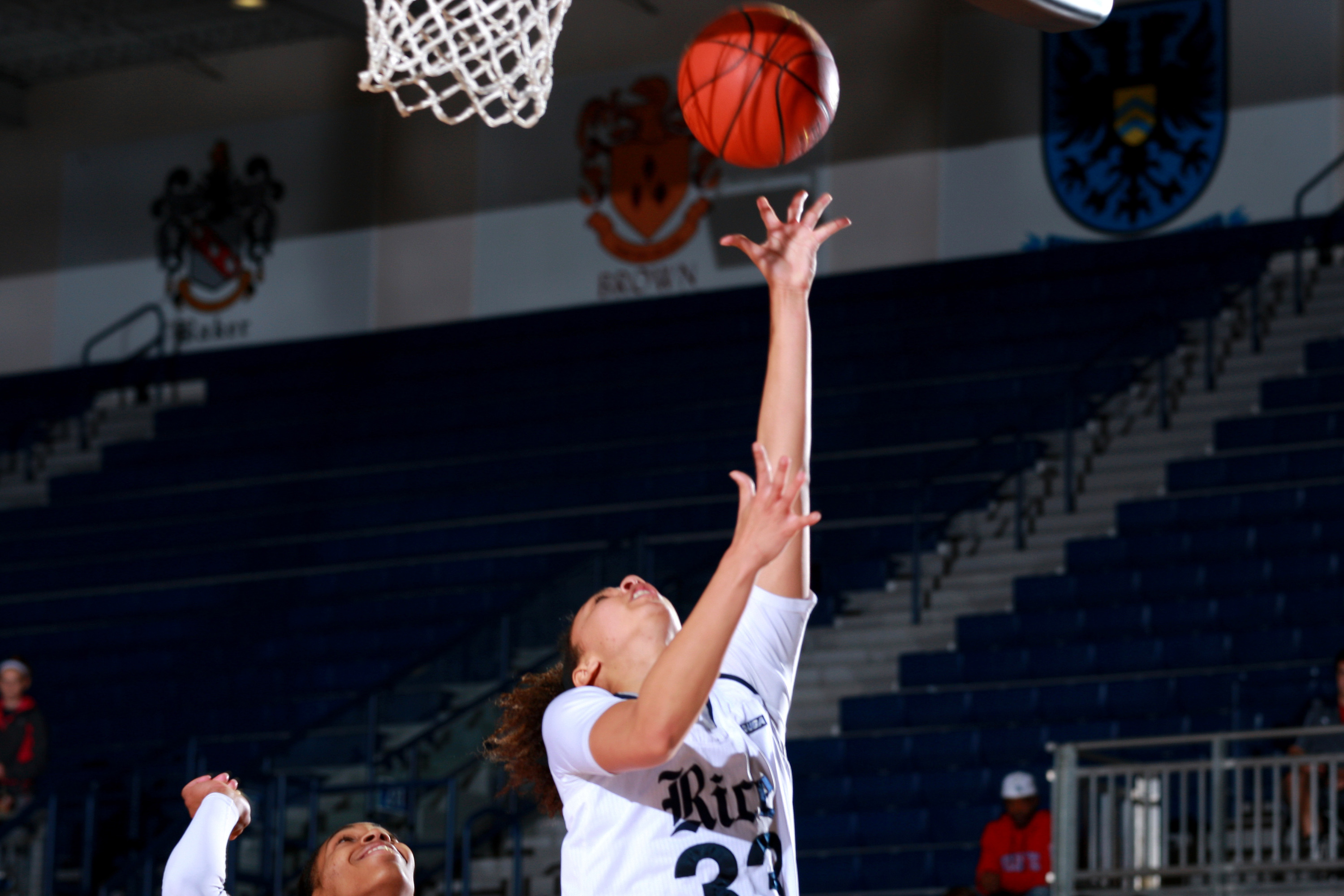 Jasmine Goodwine scored 8 points off the bench in the Owls 53-47 loss at ECU.