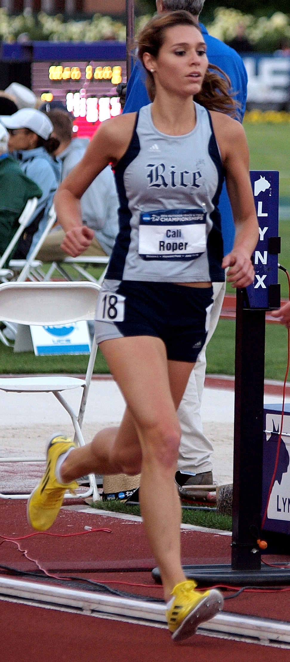 Freshman Cali Roper placed 22nd in the 10,000m at the NCAA Outdoor Championships on Thursday.