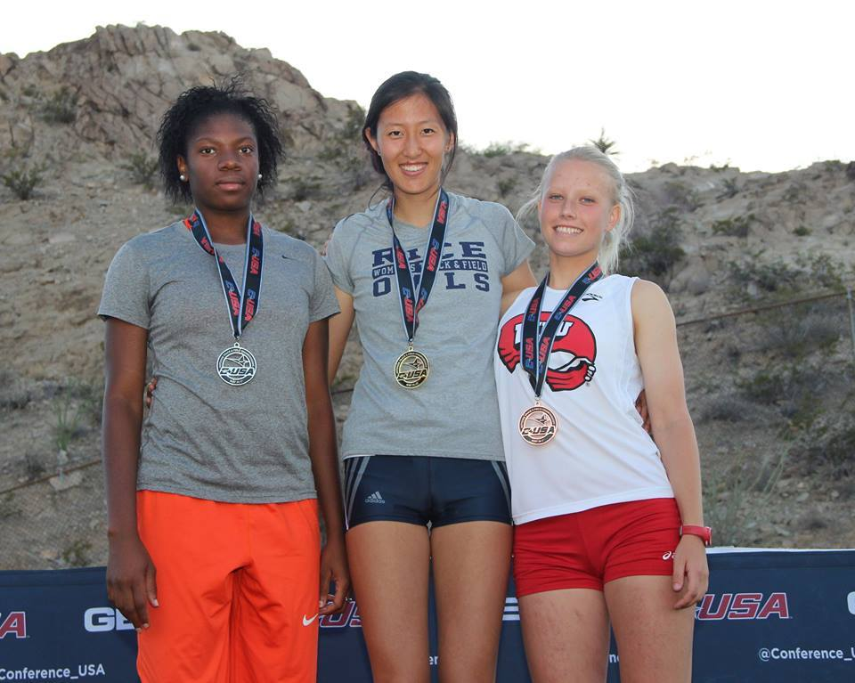 Daisy Ding was named the C-USA Female Field Performer of the Meet Friday.