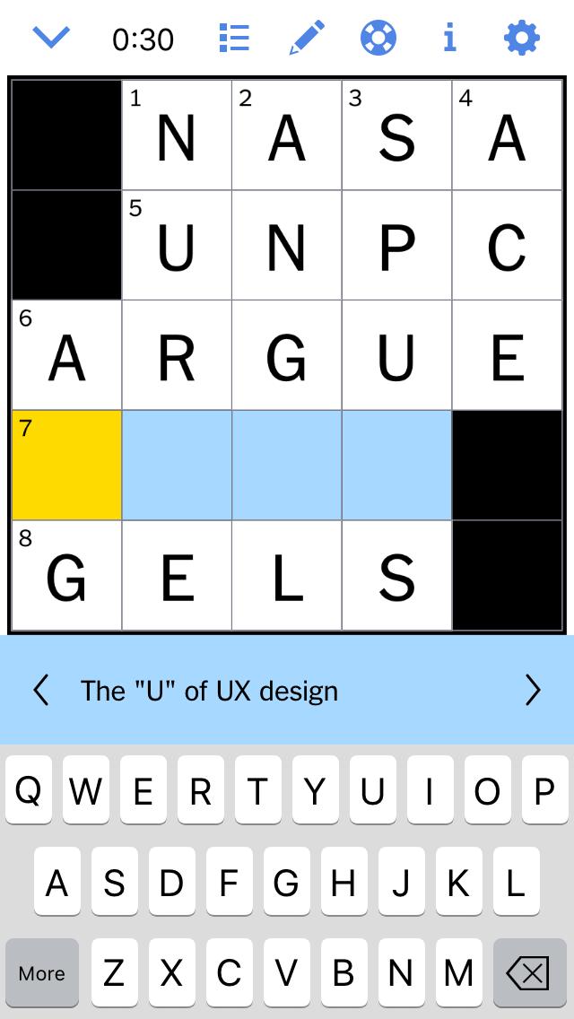 UX Crossword