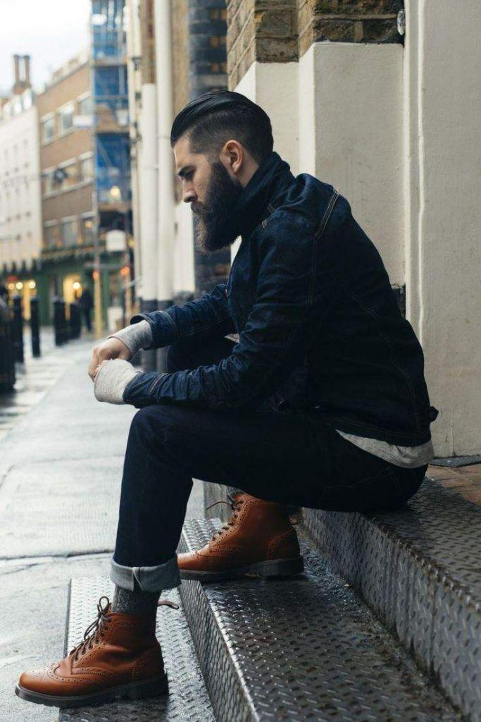 denim-jacket-long-sleeve-t-shirt-jeans-brogue-boots-socks-original-8319