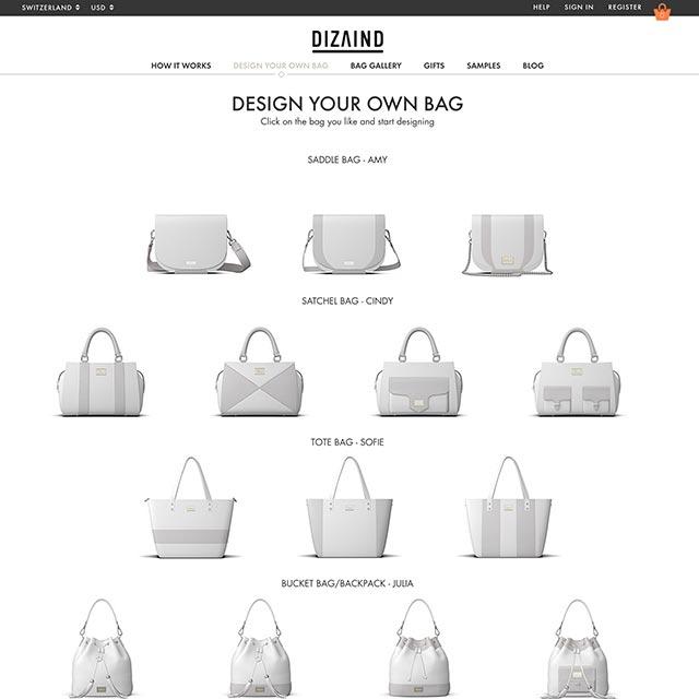 dizaind custom bags