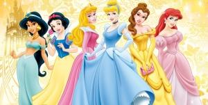 Disney princesses wearing blue