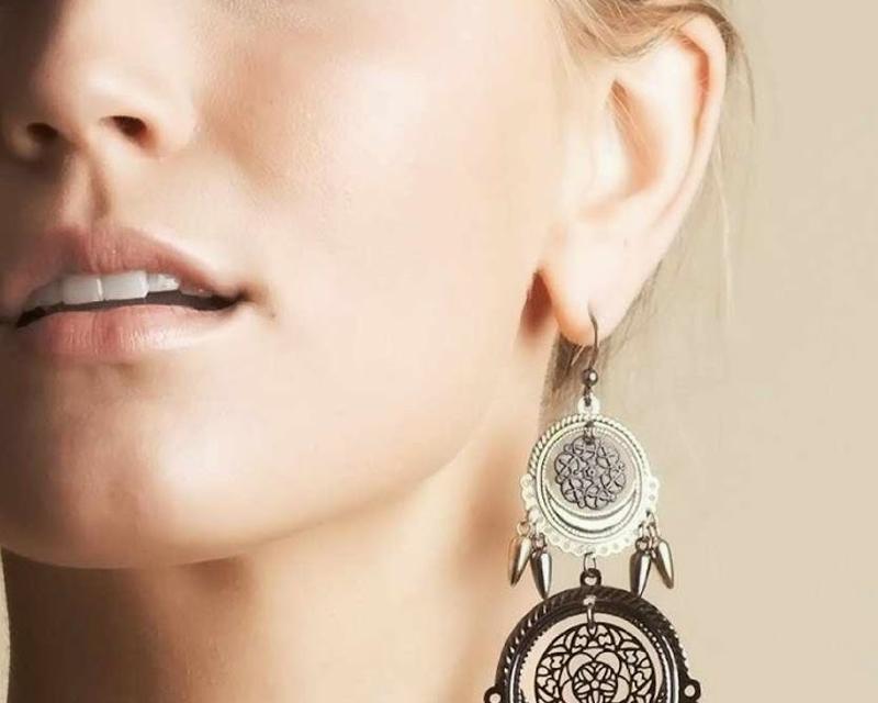 heavy earrings