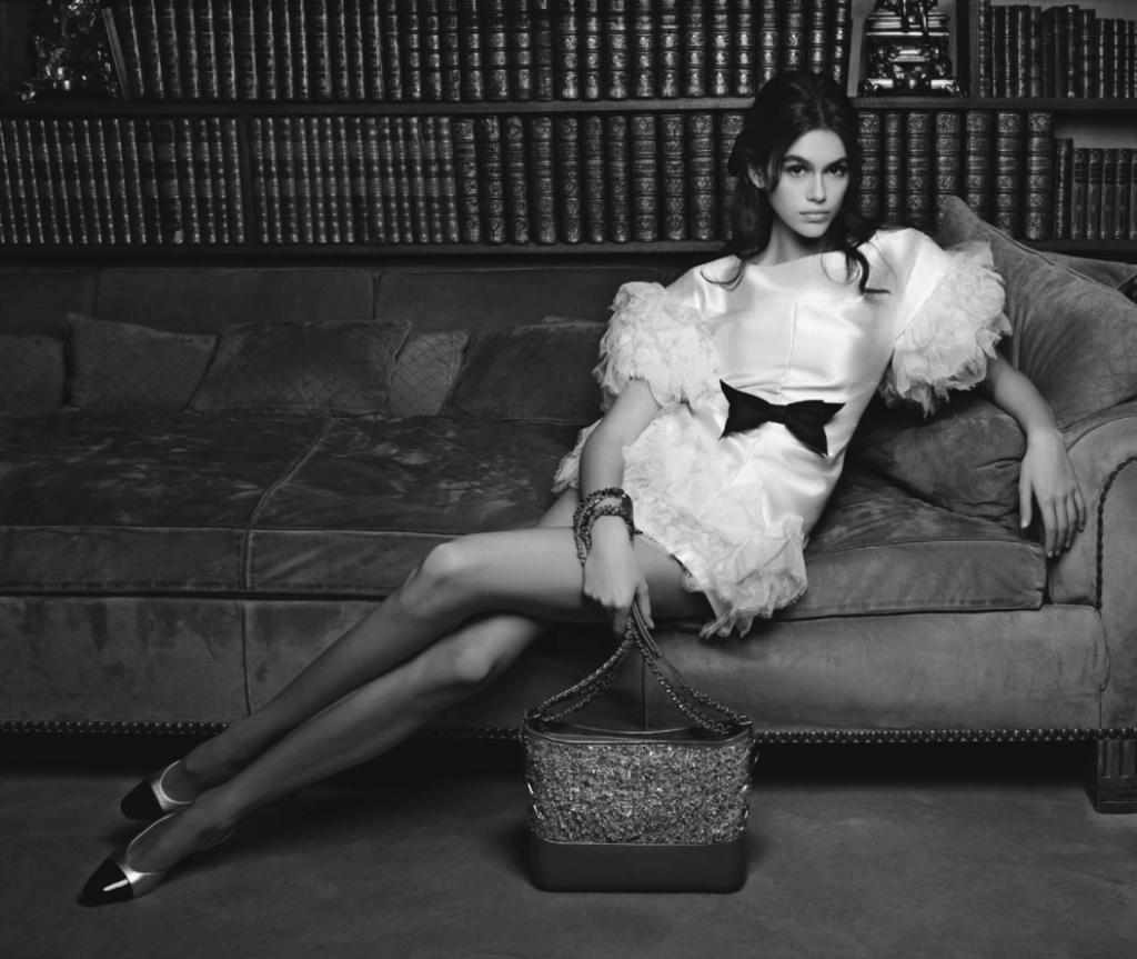 Kaia Gerber Chanel Bag Campaign
