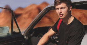 Ansel Elgort Polo Red
