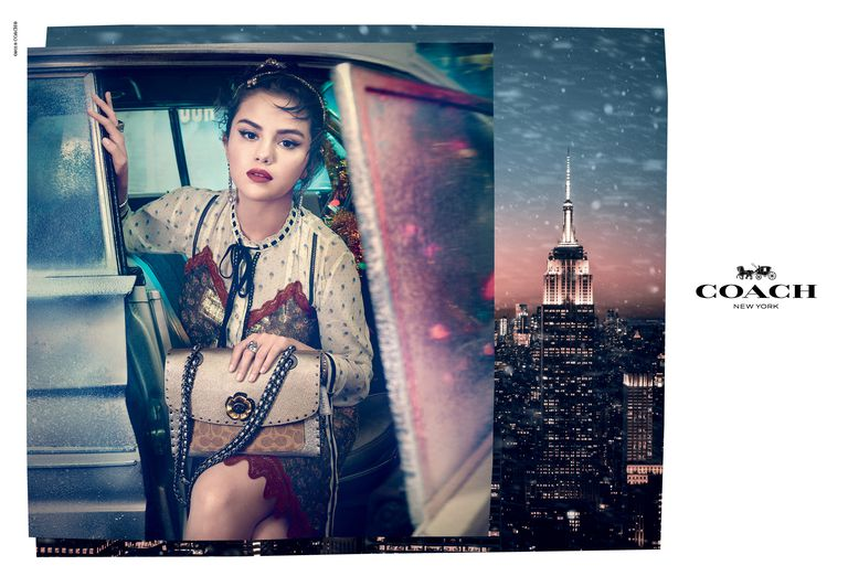Selena Gomez Coach Holiday 2018