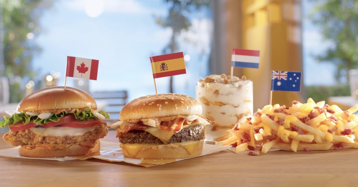 McDonalds International Menu
