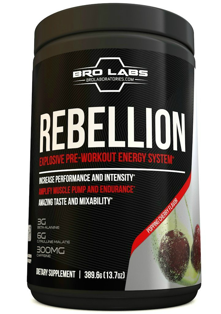 REBELLION - Explosive Pre-Workout Energy System - No proprietary blends