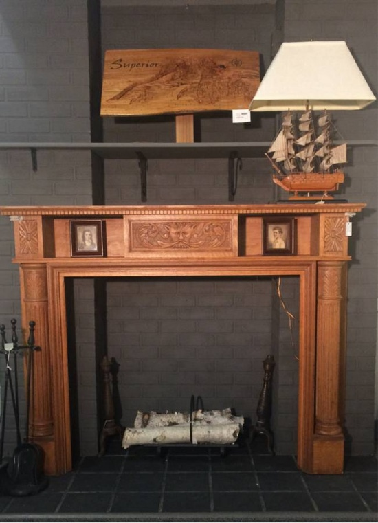 Bon Furniture | 1890s Oak Fireplace Mantle 04g001