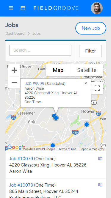 FieldGroove Job Mobile
