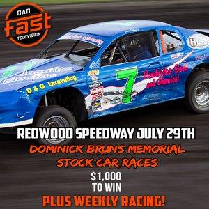 Brun's Memorial - Redwood Speedway - $1,000 To Win IMCA Stock Cars!