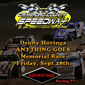 Crawford County Speedway:  Denny Hovinga Anything Goes Memorial Race