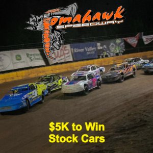 $5000 to win Stock Cars