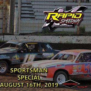 Rapid Speedway:  Sportsman Special August 16th, 2019